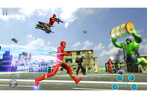 Superhero Flash Hero:flash speed hero- flash games for ...
