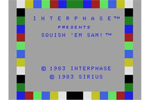 Squish 'em Sam - Coleco Vision - Games Database