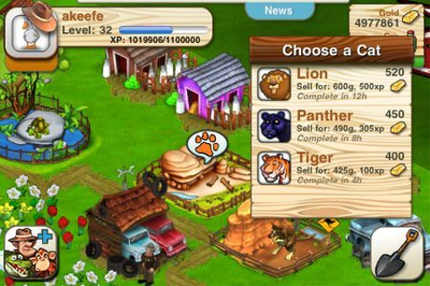Giochi iPhone: We Farm Safari, gioco social gratis | Games4all