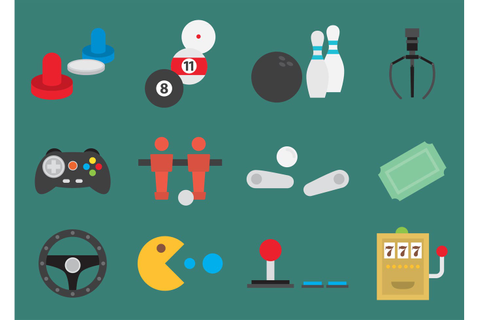 Arcade Game Vector Icons - Download Free Vector Art, Stock ...