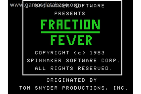Fraction Fever - Coleco Vision - Games Database