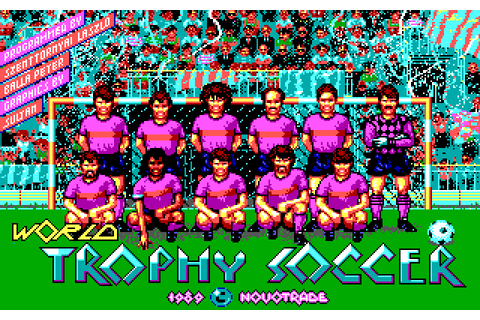 World Trophy Soccer (1989) by Novotrade MS-DOS game