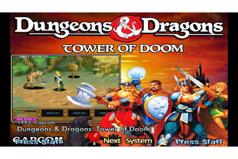 Dungeons & Dragons - Tower Of Doom (1993) Capcom Mame ...