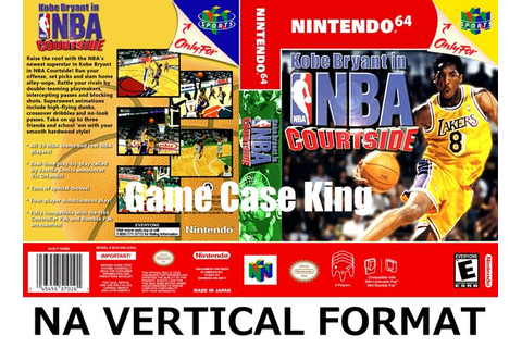 Kobe Bryant in NBA Courtside N64 video game case | Game ...