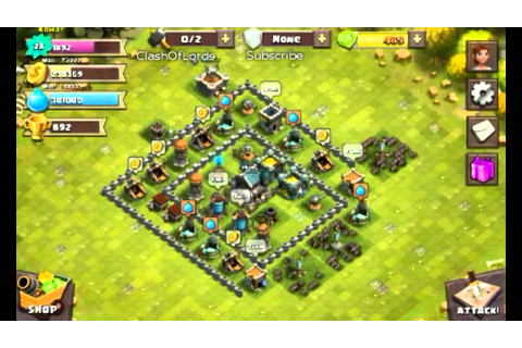 Clash Of Lords - Best Base strategy - YouTube