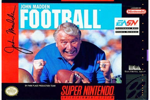 SuperPhillip Central: Madden NFL: SNES Evolution