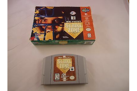 Mike Piazza's StrikeZone (Nintendo 64, 1998) N64 w/ Box ...