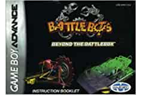 Battlebots - Beyond the Battlebox GBA Instruction Booklet ...