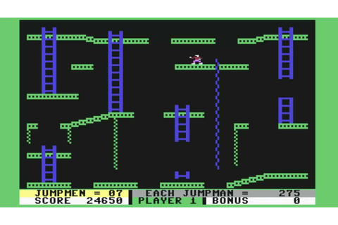 Commodore 64 - Jumpman Jr. by Epyx - all 12 levels ...