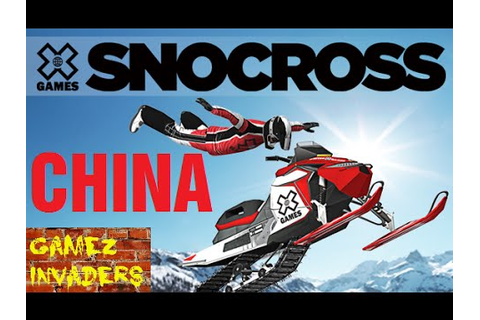 SnoCross X Arcade Machine China Track Winter X Games - YouTube