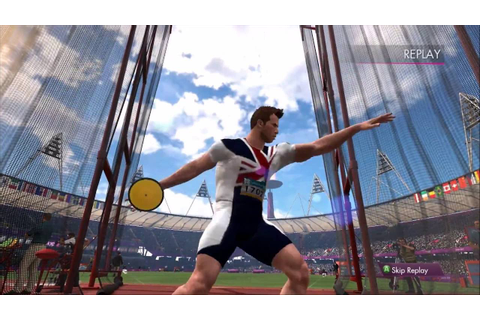 [Olympic 2012 official game] Perfect discus throw!!! - YouTube
