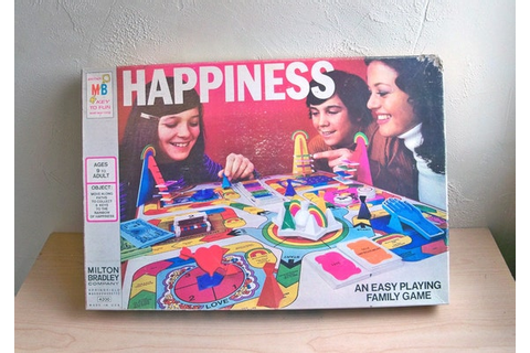 1972 Milton Bradley Happiness Board Game with Lots of Groovy