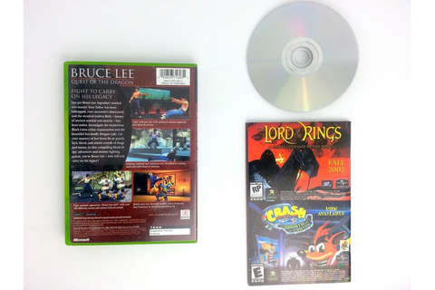 Bruce Lee Quest of the Dragon game for Xbox (Complete ...
