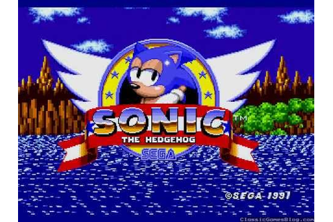 Sonic The Hedgehog Opening Title Screen Intro Sega Genesis ...