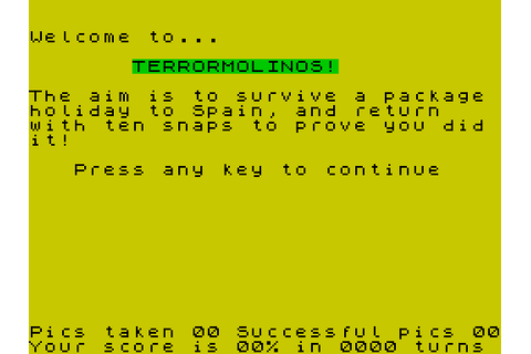 Terrormolinos (1985) by Melbourne House ZX Spectrum game