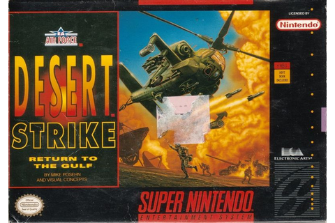 Desert Strike: Return to the Gulf for SNES (1992) - MobyGames