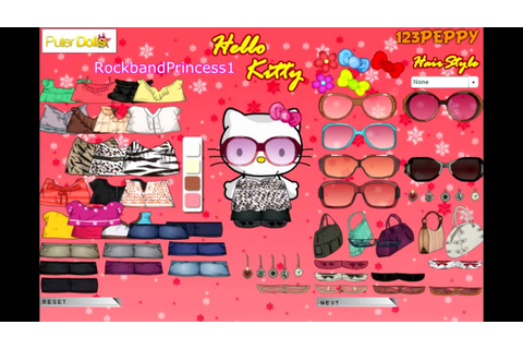Hello Kitty Online Games Hello Kitty Dress Up Game - YouTube