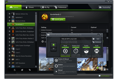 NVIDIA's ShadowPlay Has Arrived: Use that GeForce Card to ...