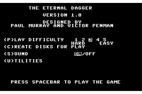 Download The Eternal Dagger (Apple II) - My Abandonware