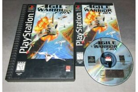Agile Warrior F-111X COMPLETE GAME for Playstation PS1 PS2 ...