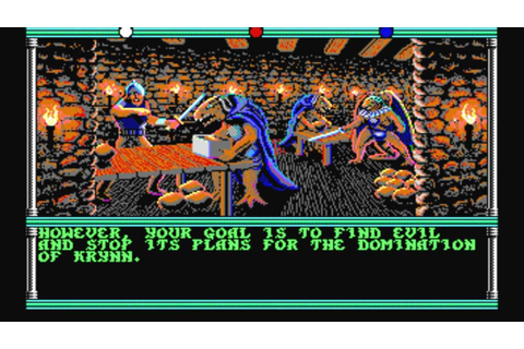 Champions of Krynn (MS-DOS) Intro und Gameplay - YouTube