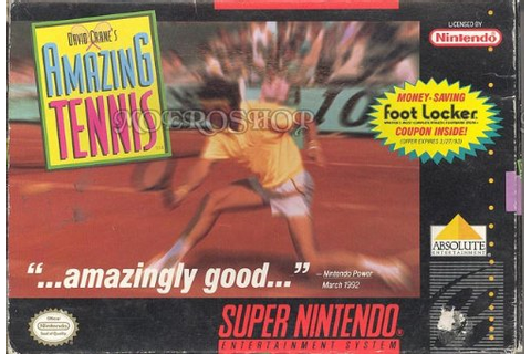 DAVID CRANE'S AMAZING TENNIS SUPER NINTENDO SNES for SNES ...