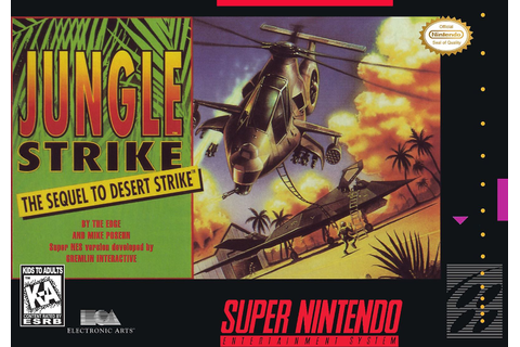 Jungle Strike the Sequel to Desert Strike SNES Super Nintendo