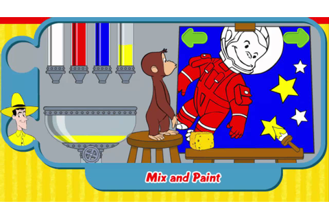 CURIOUS GEORGE MIX AND PAINT CURIOUS GEORGE GAME - YouTube