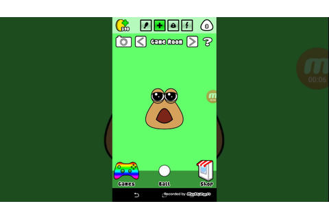 Playing pou game - YouTube