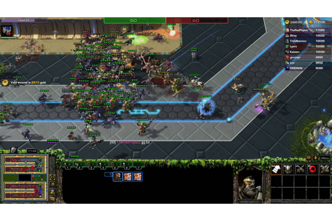 Starcraft 2 - Hero Line wars - Garrison hero - YouTube