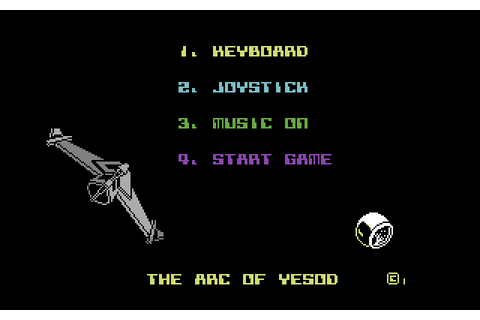 The Arc of Yesod (1985) by Thor Computer Software C64 game