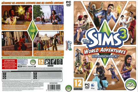 PC Games CD Cover: The Sims 3 World Adventures