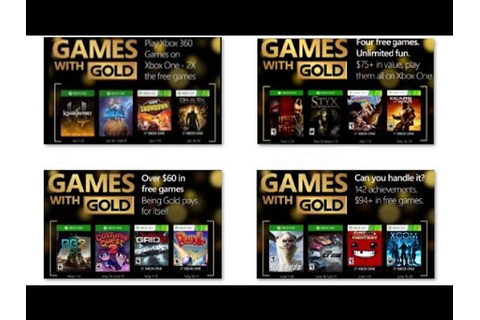 All Games with Gold Xbox One i 360 2016 - YouTube
