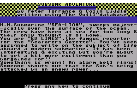 Download Subsunk (Commodore 64) - My Abandonware