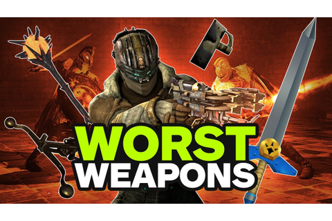 Top 10 Worst Weapons in Video Games - YouTube