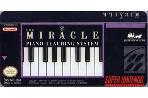 Miracle Piano Teaching System SNES Super Nintendo