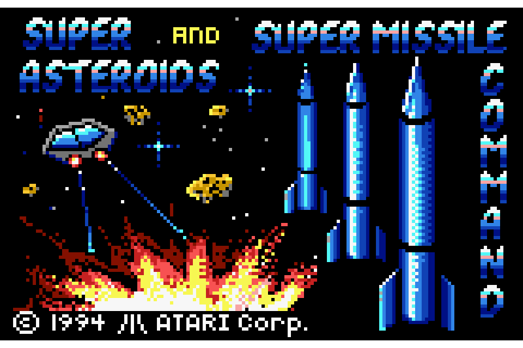 Super Asteroids & Missile Command (1994) by Atari Lynx game