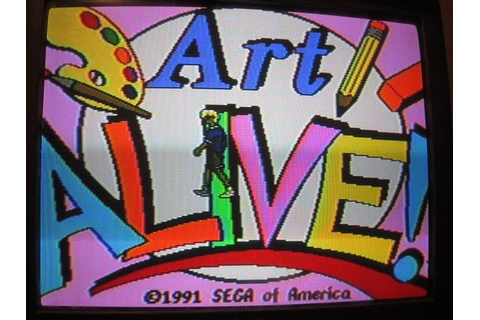 ON SALE Sega Genesis Game Art Alive by VintageGamesandFinds