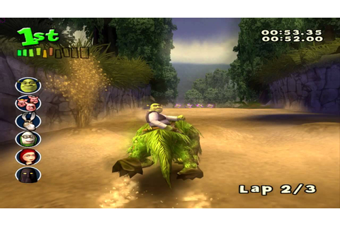 Shrek Smash n' Crash Racing (PS2) walkthrough - Swamp ...
