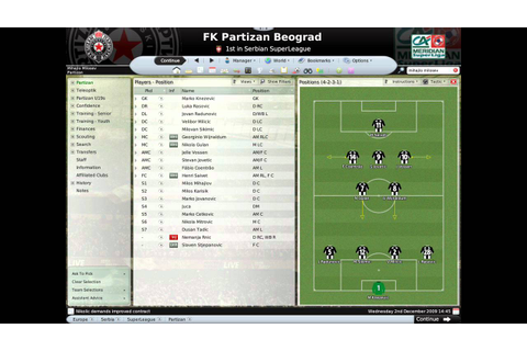 Football Manager 2008 - FK Partizan - YouTube