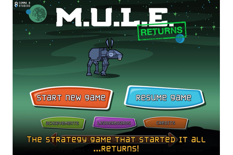 Classic Strategy Game M.U.L.E. Returns In The Form Of ...