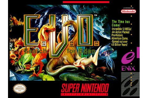 E.V.O.: Search for Eden World 1 Snes Gameplay - YouTube