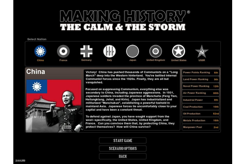 Making History: The Calm & The Storm PC Review | GameWatcher