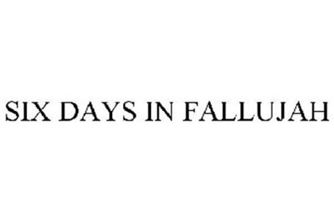 SIX DAYS IN FALLUJAH Trademark of Atomic Games, Inc ...