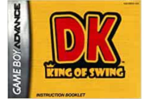 DK - King of Swing (Donkey Kong) GBA Instruction Booklet ...