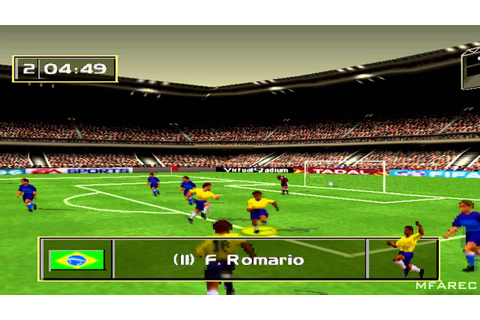 FIFA Soccer 96 Gameplay Friendly Match (PlayStation) - YouTube