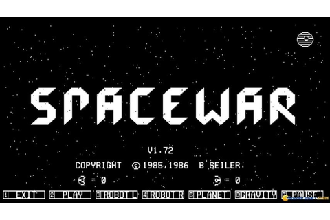 Space War gameplay (PC Game, 1985) - YouTube