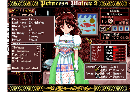 Princess Maker 2 Part #10 - Let's play dress-up!