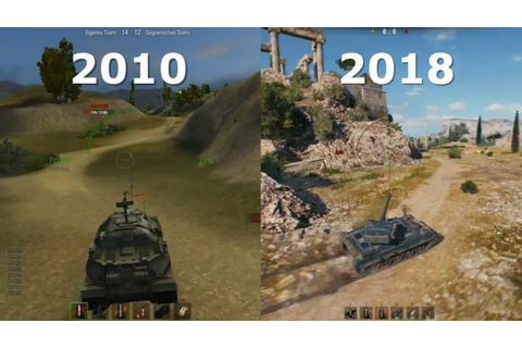 World of Tanks ⚡️ Graphics Evolution 2010 - 2018 - YouTube