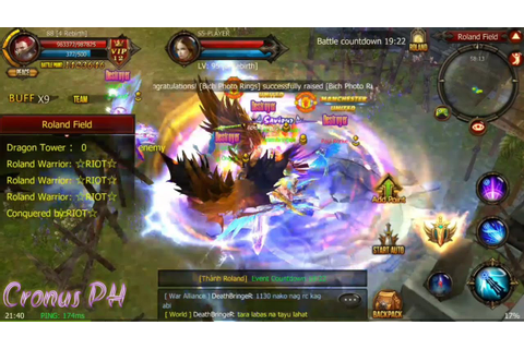 MU Mythical Online Android version- Server5 (Roland Battle ...